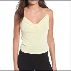 Madison & Berkeley Cami Tank XXL Plus Pale Yellow